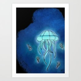 In the Deep Art Print