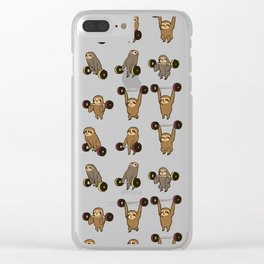 OLYMPIC LIFTING SLOTHS Clear iPhone Case