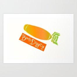 Bombs Away (Mango) Art Print