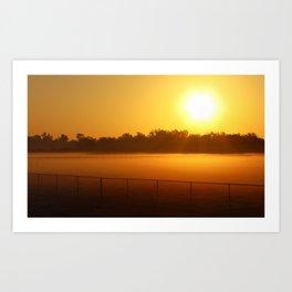 Sunrise on the Pasture Art Print