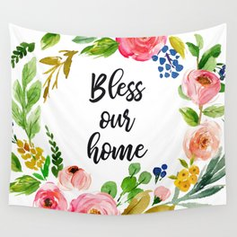 Bless Our Home Wall Tapestry