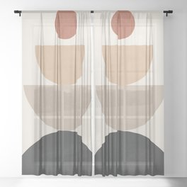 Geometric Modern Art 31 Sheer Curtain