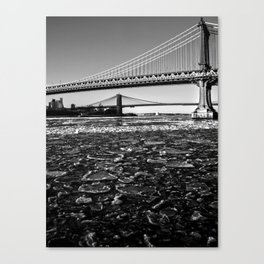 Ice Floe on the East River Canvas Print