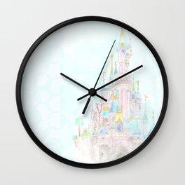Castle of Sleeping beauty Wall Clock