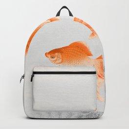 Vintage Goldfishes Illustration Backpack