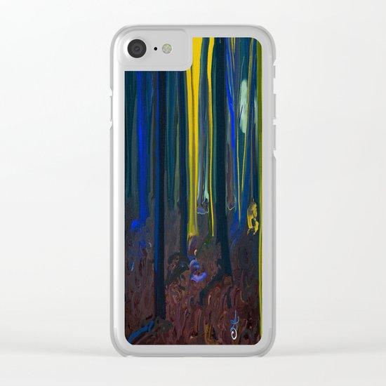 Stay Wild Yellow Moon Clear iPhone Case
