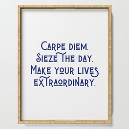 Carpe Diem Serving Tray
