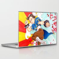 street fighter Laptop & iPad Skins featuring Chunli Street Fighter by Aimee Steinberger