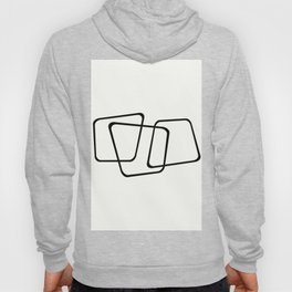 Simply Minimal - Black and white abstract Hoody