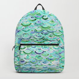 Marble Mosaic in Mint Quartz and Jade Backpack