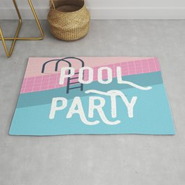 Pool party - summer vibes Rug