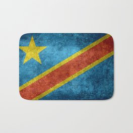 National flag of the Democratic Republic of the Congo, Vintage version (to scale) Bath Mat