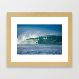 Surfing World Champion Gabriel Medina charging Off The Wall Framed Art Print
