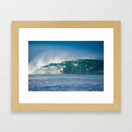 Surfing World Champion Gabriel Medina charging Off The Wall Framed Art Print