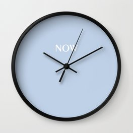 NOW CERULEAN Blue pastel solid color Wall Clock