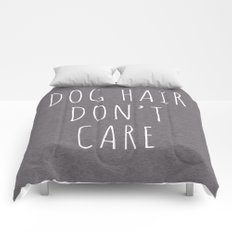 Dog Hair Funny Quote Comforters