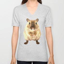 Hamster Portrait Unisex V-Neck