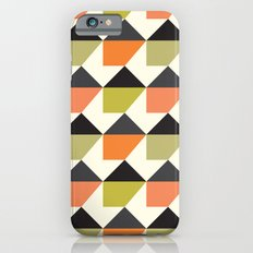 Orange & lime geometric pattern Slim Case iPhone 6s