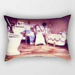 Haunted Bathroom - House of Horror Rectangular Pillow