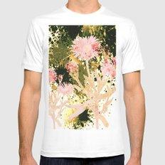 flowers and splash White MEDIUM Mens Fitted Tee