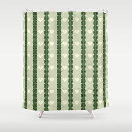 Green Locket Shower Curtain