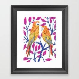 Yellow Parrots Framed Art Print