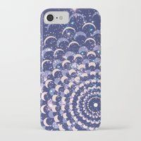 moon phases iPhone & iPod Cases featuring Moon Phases by Cina Catteau