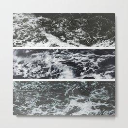 Saltwater Trytych Var II - blacks Metal Print