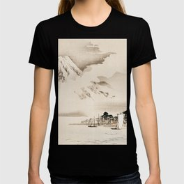 View Of Mount Fuji Traditional Japanese Landscape T-shirt