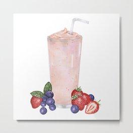 Strawberry Smoothie Metal Print