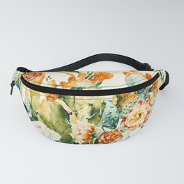 Succulent flowered cactus Fanny Pack