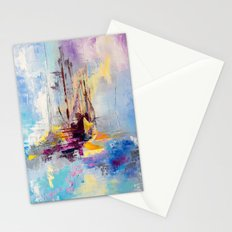 Illusive boats Stationery Cards