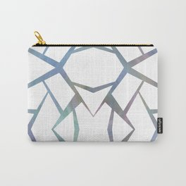 Abstract Blue & White Line Design Carry-All Pouch