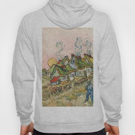 Houses and Figure by Vincent van Gogh, 1890 Hoody