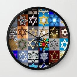 Star of David Montage Wall Clock