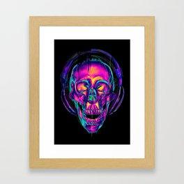 Trippy Skull Framed Art Print