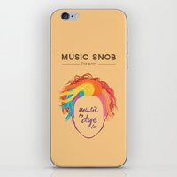 paramore iPhone & iPod Skins featuring MORE Music to DYE for — Music Snob Tip #075.5 by Elizabeth Owens