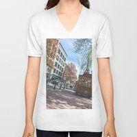 vancouver V-neck T-shirts featuring Downtown Vancouver  by Jody_Waardenburg