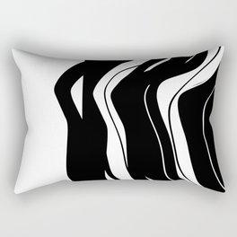 Organic No.5 Black & White #design #society6 #artprints Rectangular Pillow