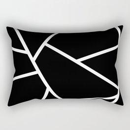 Black and White Fragments - Geometric Design II Rectangular Pillow