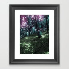 hometown forest Framed Art Print