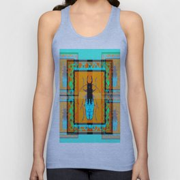 DOUBLE EXPOSURE TURQUOISE BEETLE ORANGE ART Unisex Tank Top