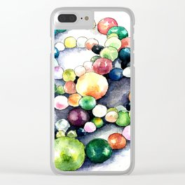 Moroccan beaded necklace Clear iPhone Case