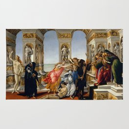 "Sandro Botticelli ""The Calumny of Apelles"" Rug"