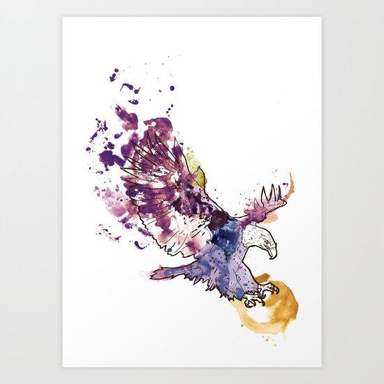 Eagle Swoop Art Print