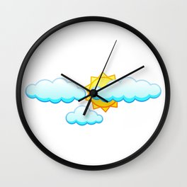 Weather Cirrus About Weather Meteorology Wall Clock