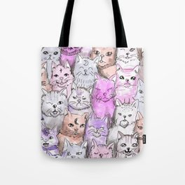 pastel cats Tote Bag