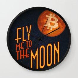 BTC to the Moon Wall Clock