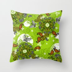 butterfly carousel Throw Pillow