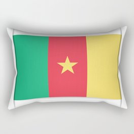 Flag of Cameroon.  The slit in the paper with shadows.  Rectangular Pillow